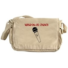 MC Weapon of Choice Microphone Messenger Bag
