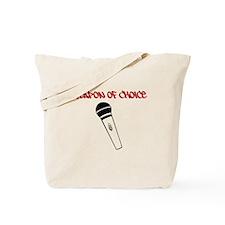 MC Weapon of Choice Microphone Tote Bag