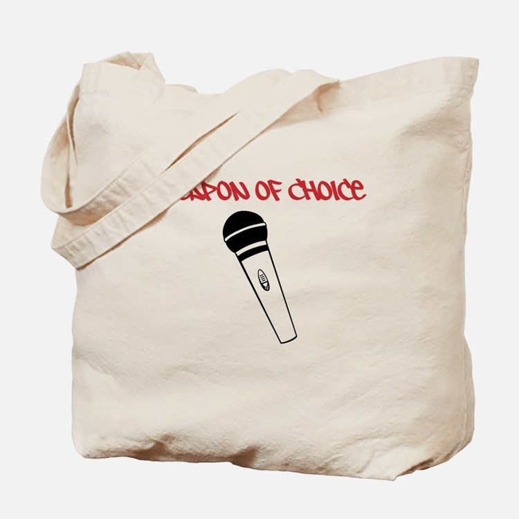 MC Weapon of Choice Microphone Tote Bag