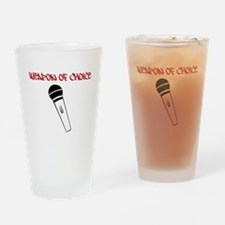 MC Weapon of Choice Microphone Drinking Glass