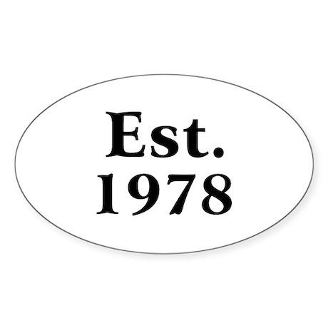 Est. 1978 Oval Sticker