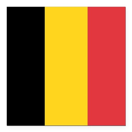 Belgium flag square car magnet 3 x 3 by oneworldgear for Belgium flag coloring page
