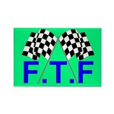 FTF green flag Rectangle Magnet