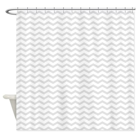 Gray Chevron Shower Curtain By InspirationzStore