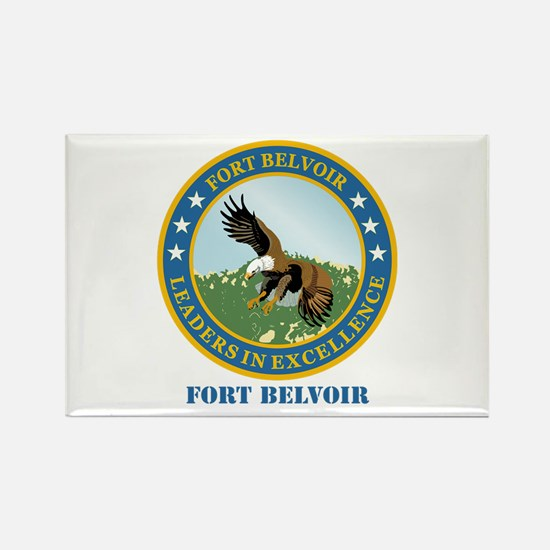 Fort Belvoir with Text Rectangle Magnet