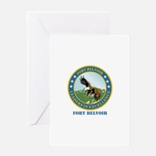 Fort Belvoir with Text Greeting Card