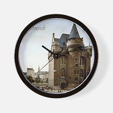Vintage Brussels Porte de Hall Wall Clock
