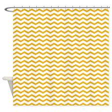 Yellow Zig zag Shower Curtain