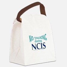 No Talking During NCIS Canvas Lunch Bag