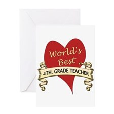 4th. grade teacher Greeting Cards