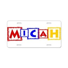 MICAH_PRIMARY.png Aluminum License Plate