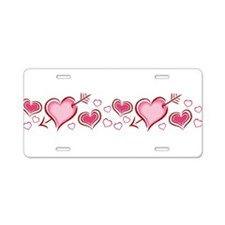 j0398233_pink hearts.png Aluminum License Plate