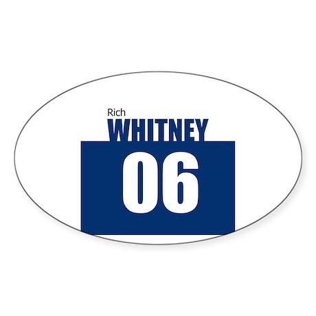 Whitney 06 Oval Sticker