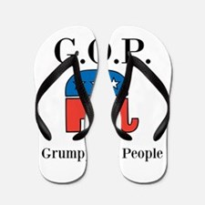 G.O.P. Grumpy Old People Flip Flops