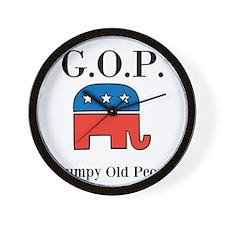 G.O.P. Grumpy Old People Wall Clock