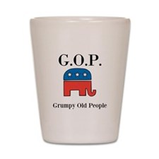 G.O.P. Grumpy Old People Shot Glass