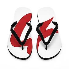 Strength Kanji Flip Flops