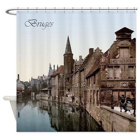 Vintage Bruges Shower Curtain