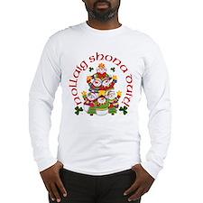 Shamrock Snowman Long Sleeve T-Shirt