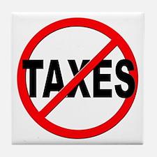 Anti / No Taxes Tile Coaster