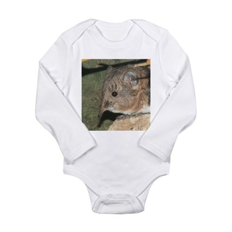 A Little Nosy Long Sleeve Infant Bodysuit