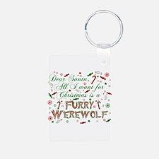 Dear Santa Werewolf Keychains