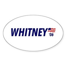 Whitney 06 Oval Decal