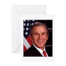 George W. Bush Greeting Card
