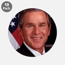 "George W. Bush 3.5"" Button (10 pack)"