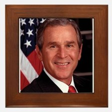George W. Bush Framed Tile
