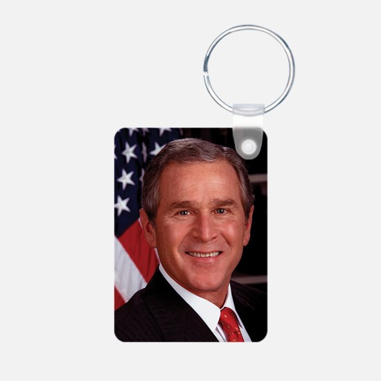 George W. Bush Aluminum Photo Keychain