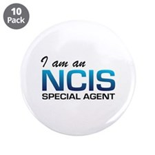 "I am an NCIS special agent 3.5"" Button (10 pack)"