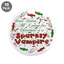 "Dear Santa Vampire 3.5"" Button (10 pack)"