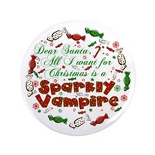 "Dear Santa Vampire 3.5"" Button"