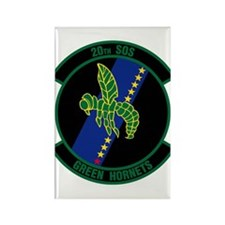 20th Patch Rectangle Magnet
