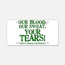 OUR BLOOD1_EAGLE.png Aluminum License Plate