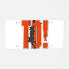 32213666ORANGEGRAY.png Aluminum License Plate
