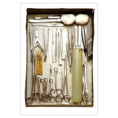 Instruments used in orthopedic surgery Poster