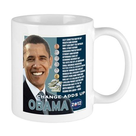 Obama 2012 T-shirts CHANGE ADDS UP Mug