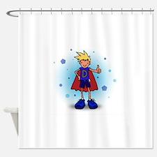 Blonde D-Boy with Pump Shower Curtain
