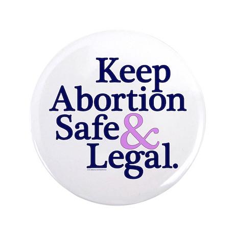 Keep Abortion Safe & Legal 3.5 Button 100