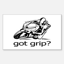 Sportbike Got Grip Sticker (Rectangle)