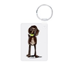 Pointer Playtime Aluminum Photo Keychain