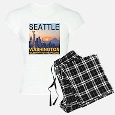 Seattle WA Skyline Graphics Sunset Pajamas