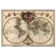 Map of the world, 1720 Poster
