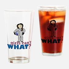 Astronaut Girl Drinking Glass