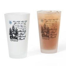 Silent Night Drinking Glass