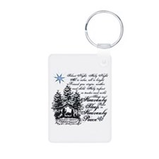 Silent Night Aluminum Photo Keychain