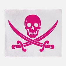 Pink Calico Jack Throw Blanket