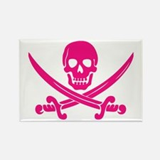 Pink Calico Jack Rectangle Magnet